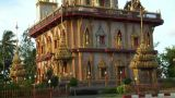 Thai Temple Monument Tilt stock footage
