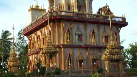 thai temple monument tilt Footage