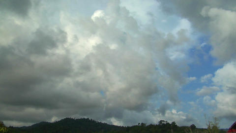 storm coming up time lapse cloud Stock Video Footage
