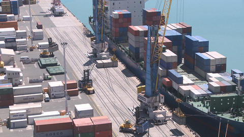container loading closer timelapse Stock Video Footage