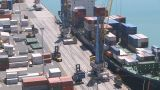 Container Loading Closer Timelapse stock footage