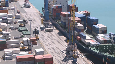 container loading closer timelapse Footage