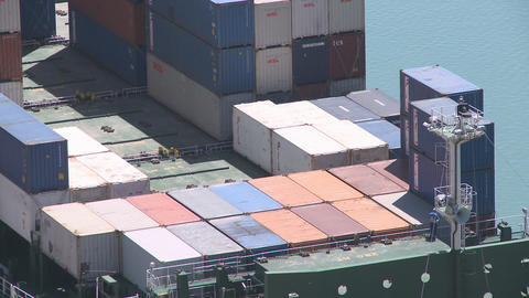 container stacking fast Stock Video Footage