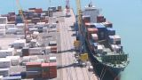 Port Container Loading Time Lapse stock footage