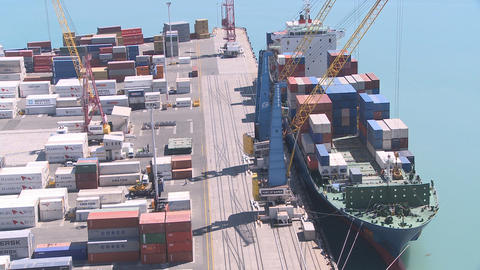 port container loading time lapse Stock Video Footage