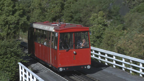 cablecar in Wellington, NZ Stock Video Footage