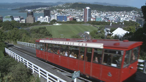 cablecar in Wellington, NZ Footage