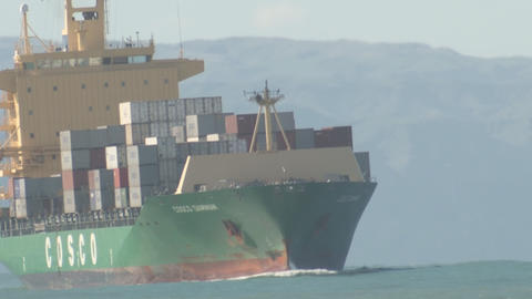 ship in sea swell time lapse Stock Video Footage