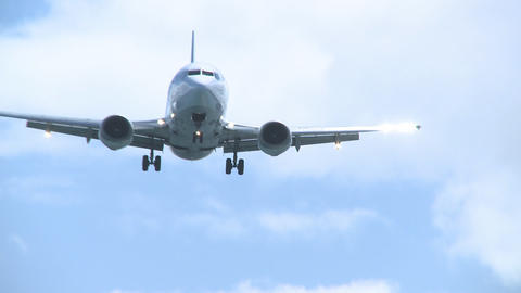 737 landing Stock Video Footage