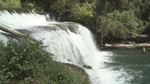 waterfall wide Stock Video Footage