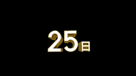 Day j 25 a HD Stock Video Footage