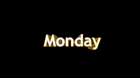 Day 02 Monday HD Stock Video Footage