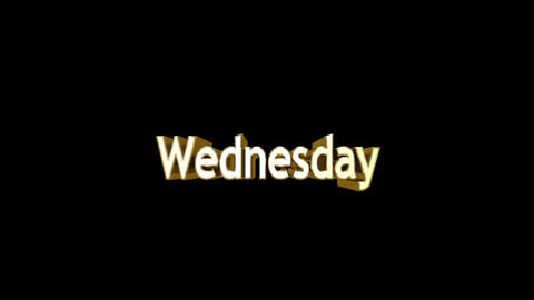 Day 04 Wednesday HD Stock Video Footage