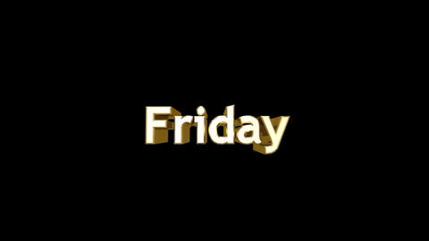 Day 06 Friday HD Stock Video Footage
