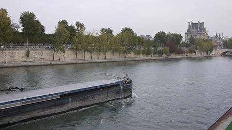Seine river 9 Stock Video Footage