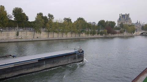 Seine river 9 Stock Video Footage