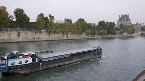 Seine river 9 Footage