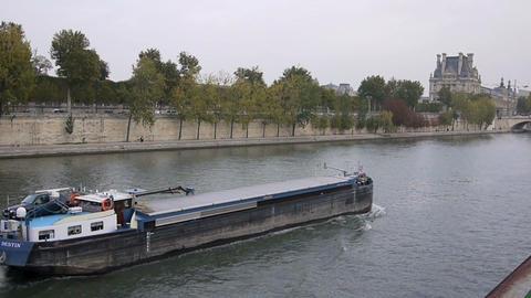 Seine river 9 Footage