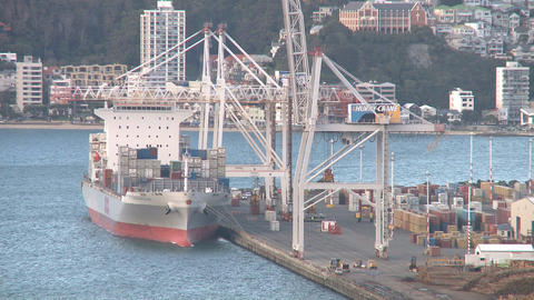 containership loading in timelapse Stock Video Footage