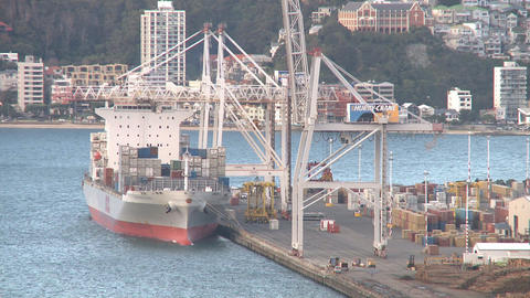 containership loading in timelapse Footage