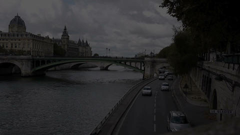 By the Seine Stock Video Footage
