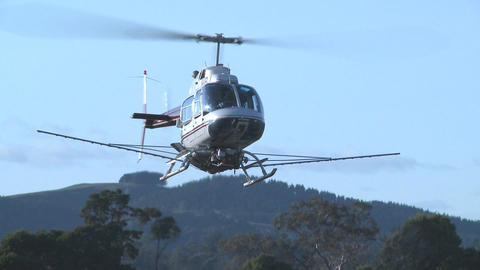 helicopter hovers Footage
