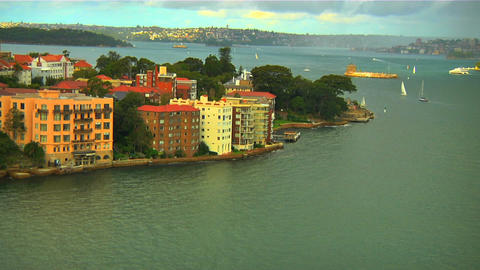 North Sydney View 01 Stock Video Footage