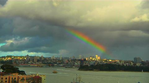RainbowOverSydney Stock Video Footage