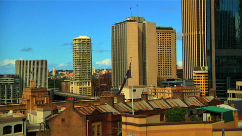 Sydney City View Stock Video Footage
