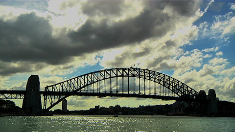 Sydney Harbour Bridge 02 Stock Video Footage