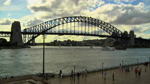 Sydney Harbour Bridge 04 Stock Video Footage