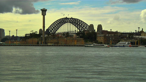 Sydney Harbour Bridge 08 Stock Video Footage