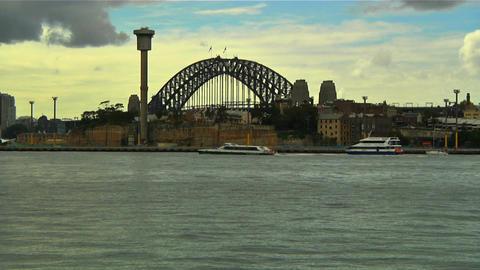 Sydney Harbour Bridge 08 Stock Video Footage