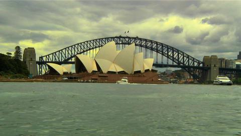 Sydney Harbour Bridge and Opera House 01 Footage