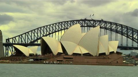 Sydney Harbour Bridge and Opera House 03 Footage