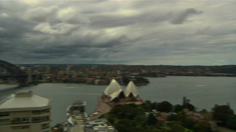 Sydney Harbour Bridge and Opera House 05 Stock Video Footage
