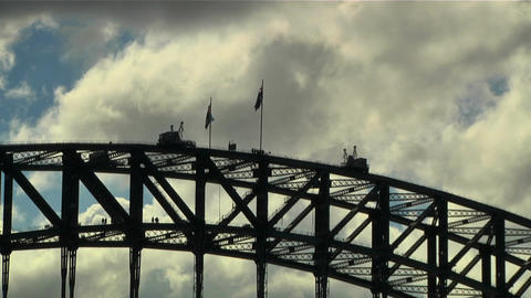 Sydney Harbour Bridge Top 01 Footage
