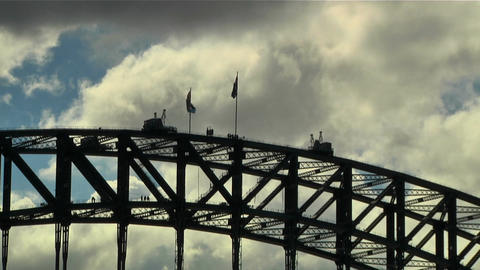 Sydney Harbour Bridge Top 01 Stock Video Footage