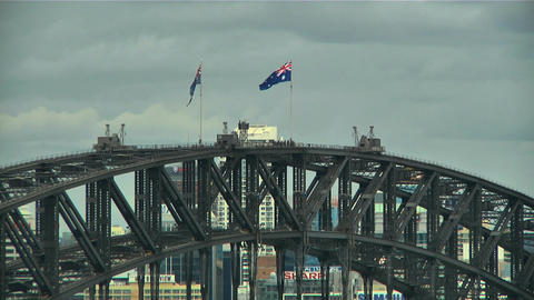 Sydney Harbour Bridge Top 03 Footage