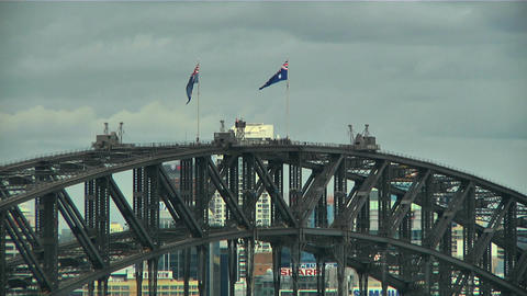 Sydney Harbour Bridge Top 03 Stock Video Footage