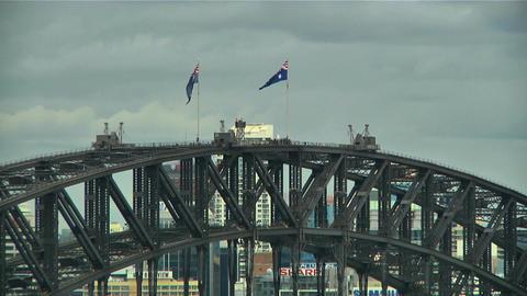 Sydney Harbour Bridge Top 03 Stock Video Footage