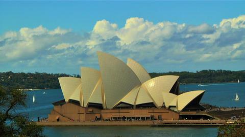 Sydney Opera House 02 Stock Video Footage