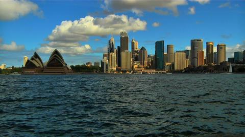 Sydney Opera House and CitySkyline Stock Video Footage