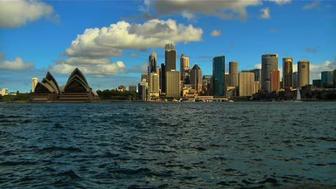 Sydney Opera House and CitySkyline Stock Video Footage