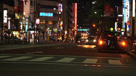 Tokyo Street 23 At Night Stock Video Footage