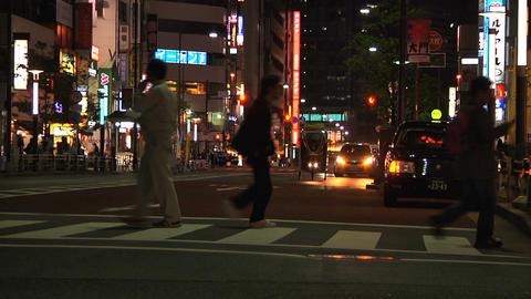 Tokyo Street 23 At Night Footage