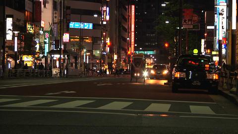 Tokyo Street 23 At Night Stock Video Footage