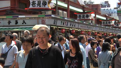 Tokyo Street People Walking SemiWide Footage