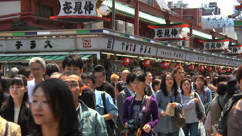 Tokyo Street People Walking SemiWide Stock Video Footage