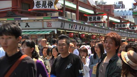 Tokyo Street People Walking SemiWide Stock Video Footage